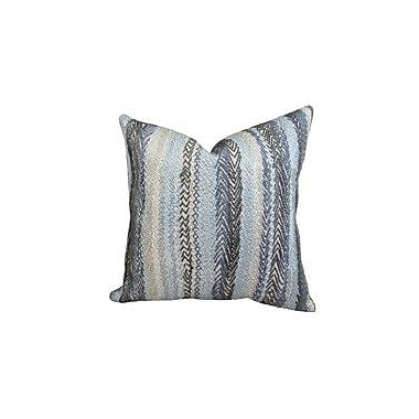 Plutus Brands Zigzag Rows Double Sided Linen Throw Pillow; 18'' H x 18'' W