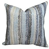 Plutus Brands Zigzag Rows Double Sided Linen Throw Pillow; 26'' H x 26'' W