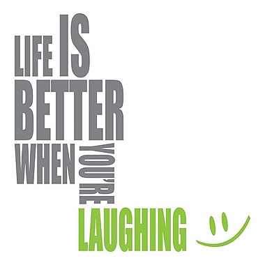 WallPops! Laughing Quote Wall Decal