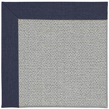 Capel Inspirit Silver Machine Tufted Navy/Gray Area Rug; Square 10'