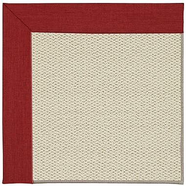 Capel Inspirit Linen Machine Tufted Red/Yellow Area Rug; Square 6'
