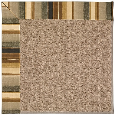 Capel Zoe Grassy Mountain Machine Tufted Cinders/Brown Indoor/Outdoor Area Rug; Square 8'