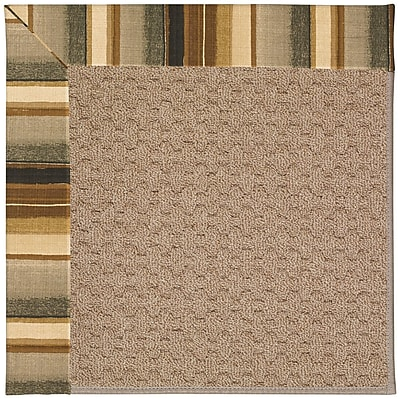 Capel Zoe Grassy Mountain Machine Tufted Cinders/Brown Indoor/Outdoor Area Rug; Rectangle 12' x 15'