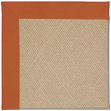 Capel Zoe Machine Tufted Russett/Brown Indoor/Outdoor Area Rug; Rectangle 4' x 6'