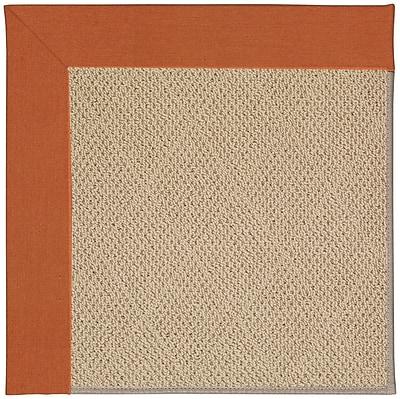 Capel Zoe Machine Tufted Russett/Brown Indoor/Outdoor Area Rug; Rectangle 7' x 9'