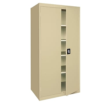 Elite Storage, Recessed Handle, 36Wx24Dx72H Tropic Sand