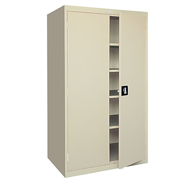 Elite Storage, Recessed Handle, 46Wx24Dx72H Putty