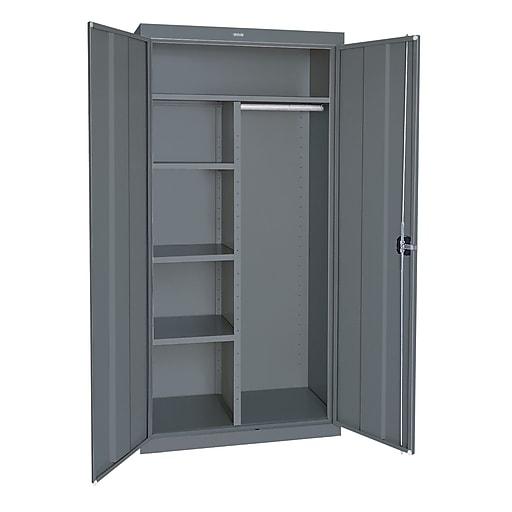 "Sandusky Elite 72""H Steel Combination Cabinet with 6 Shelves, Charcoal (EACR362472-02)"