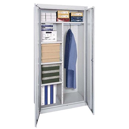 "Sandusky Elite 72""H Steel Combination Cabinet with 6 Shelves, Dove Gray (EACR462472-05)"
