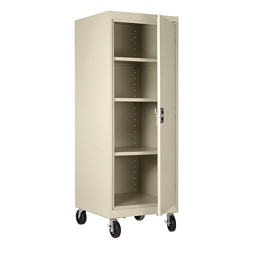"Sandusky 66""H Transport Single Door Storage with 4 Shelves, Putty (TA3R242460-07)"
