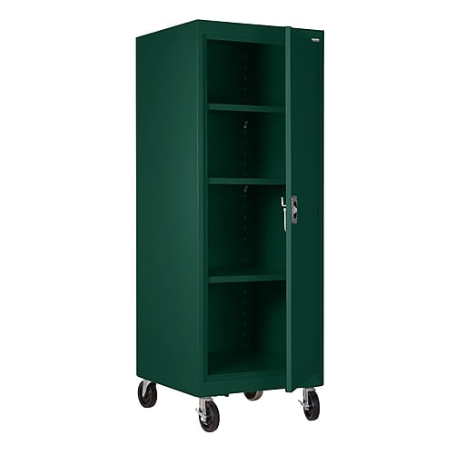 "Sandusky 66""H Transport Single Door Storage with 4 Shelves, Forest Green (TA3R242460-08)"