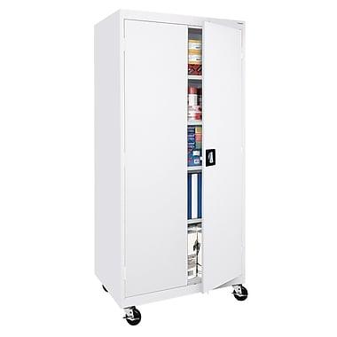 Transport Storage 4 Shelf, 36Wx24Dx72H, White