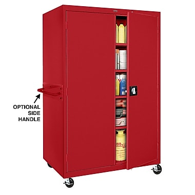 Transport Storage 4 Shelf, 46Wx24Dx72H, Red