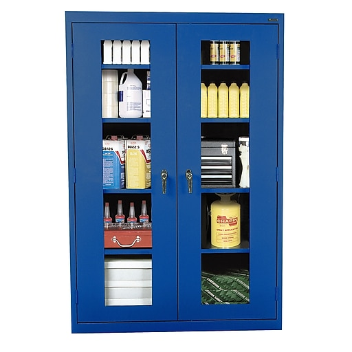 """Sandusky 72""""H Clearview Steel Storage Cabinet with 5 Shelves, Dove Gray (EA4V462472-05)"""