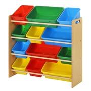 Sandusky Kid Bin Organizer 34W x 101/2D x 3011/16H Bright Colors