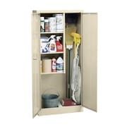Janitorial Supply Cabinet 36Wx24Dx72H Three storage shelf spaces 20Wx23Dx17H Put
