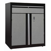 Modular Storage Base Cabinet w/Drawer 30Wx18Dx36H One Adjustable Shelf  Multi Granite/Black