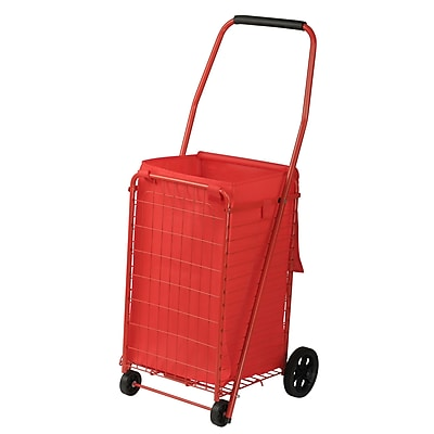Sandusky Folding Shopping Cart, 66 LB Capacity, Red (FSC3012)