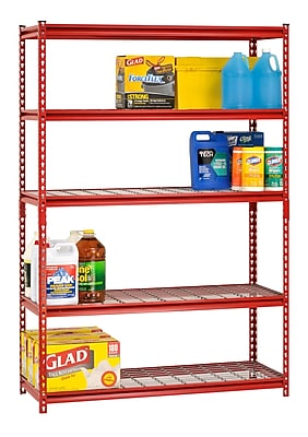 Sandusky Boltless Rivet Shelving 5 Shelf 48Wx18Dx72H