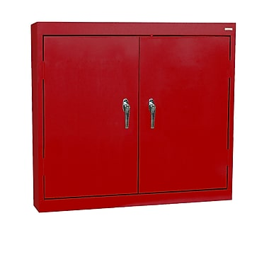 Solid Door Locking Wall Cabinet, 36Wx12Dx30H