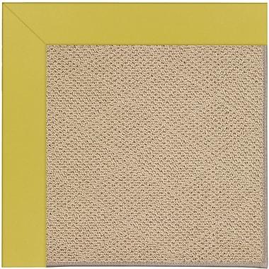 Capel Zoe Machine Tufted Citronella/Brown Indoor/Outdoor Area Rug; Rectangle 7' x 9'