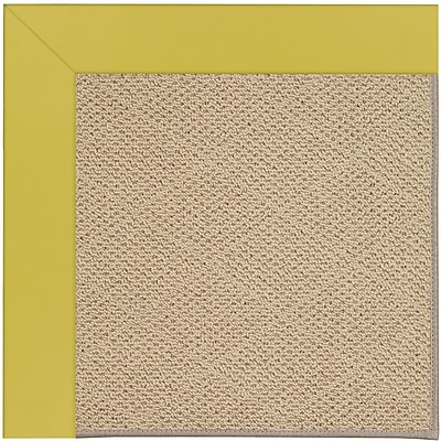 Capel Zoe Machine Tufted Citronella/Brown Indoor/Outdoor Area Rug; Rectangle 2' x 3'