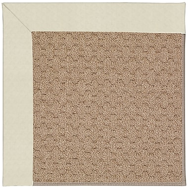 Capel Zoe Grassy Mountain Machine Tufted Cream/Brown Indoor/Outdoor Area Rug; Square 8'