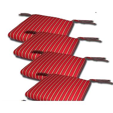Comfort Classics Outdoor Sunbrella Cushion (Set of 4); 2''H x 18''W x 18''D