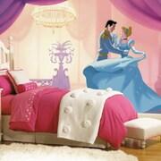 Room Mates Disney Princess Cinderella ''So This Is Love'' Chair Rail Prepasted Wall Mural