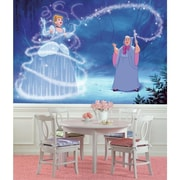 Room Mates Disney Princess Cinderella Magic Chair Rail Prepasted Wall Mural