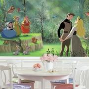 Room Mates Disney Princess Sleeping Beauty Chair Rail Prepasted Wall Mural