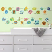 Room Mates ABC Animal Peel and Stick Wall Decals