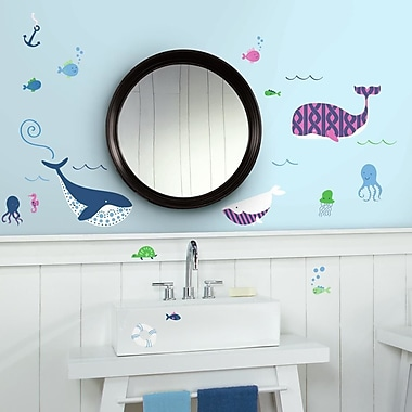 Room Mates Sea Whales Peel and Stick Wall Decals