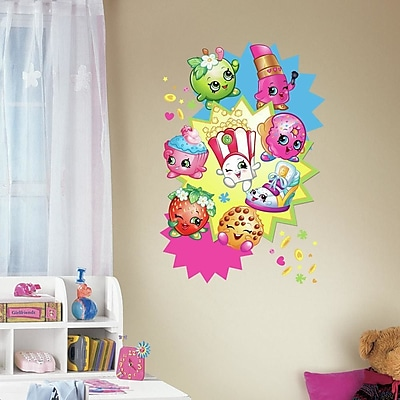 Room Mates Shopkins Burst Peel and Stick Giant Wall Decals