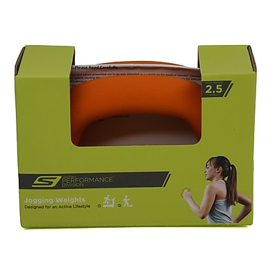 Skechers® 2.5 lbs. Easy Grip Jogging Weight Set, Orange