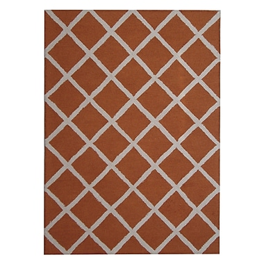 Herat Oriental Hand-Tufted Rust/Ivory Indoor Area Rug