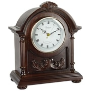 Bedford Mantel Clock with Chimes, Solid Wood Dark/Hardwood (bed-0183)