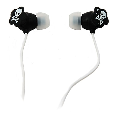 QFX® Lightweight Stereo Earbuds, White
