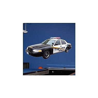 Wallhogs Police Car I Cutout Wall Decal; 23'' H x 48'' W