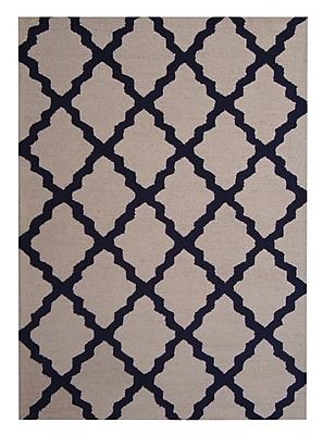 Herat Oriental Hand-Tufted Beige/Navy Indoor Area Rug