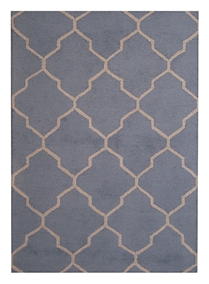Herat Oriental Hand-Tufted Light Blue/Beige Indoor Area Rug; 5' x 7'