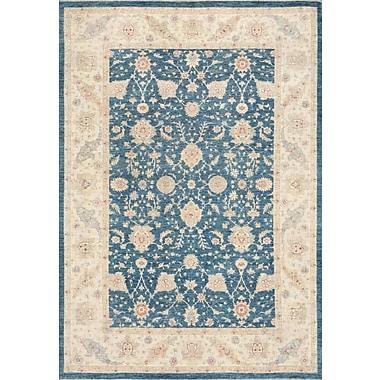 Pasargad Ferehan Hand-Knotted Blue Area Rug