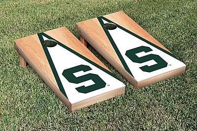 Victory Tailgate NCAA Hardcourt Triangle Version 2 Cornhole Game Set; Michigan State Spartans