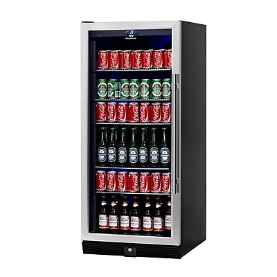 Kingsbottle KBU100B-SS Stainless Steel 300 Can Beverage Fridge