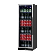 Kingsbottle KBU170B-SS Stainless Steel 450 Can Beverage Fridge