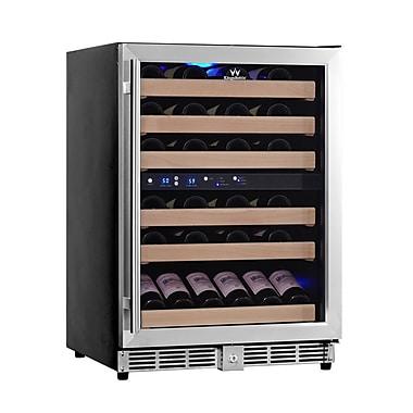Kingsbottle KBU 50D-SS Stainless Steel, Dual Zone Wine Cooler