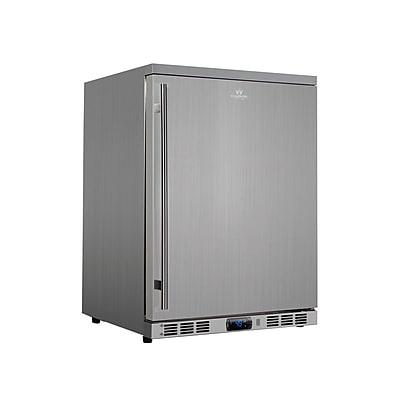 Kingsbottle KBU-55A-SD Outdoor Beverage Cooler Stainless Steel