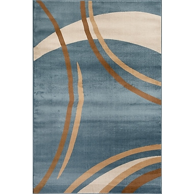 World Rug Gallery Alpine Blue Area Rug; 3'3'' x 5'