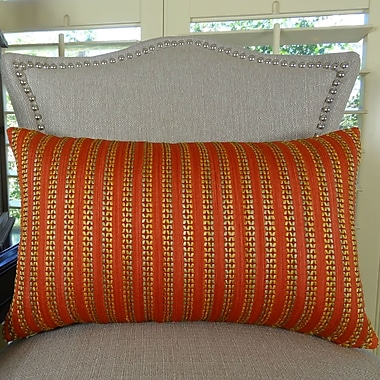 Plutus Brands Tied Rows Lumpar Pillow; 12'' H x 25'' W