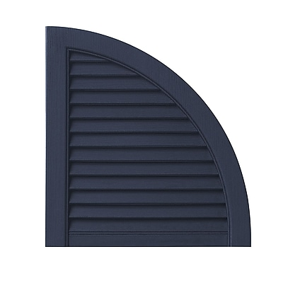 Ply Gem Open Louvered Arch Top (Set of 2); Dark Navy